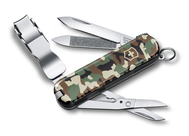 Нож Victorinox Classic Nail Clip 580, 65 мм, 8 функ, камуфляж