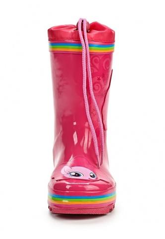 Резиновые сапоги Пони (My little Pony) утепленные на шнурках для девочек, цвет розовый. Изображение 5 из 7.