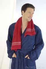 Элитный халат велюровый мужской 3194 голубой от Cawo
