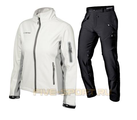 Женский лыжный утепленный костюм Mormaii Grassi White/Light grey FAMW04