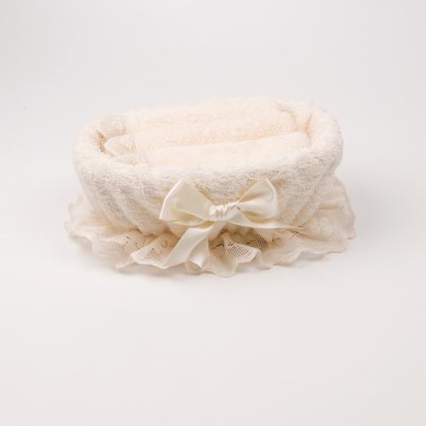 Набор полотенец 3 шт Old Florence Fiocco и корзинка белый