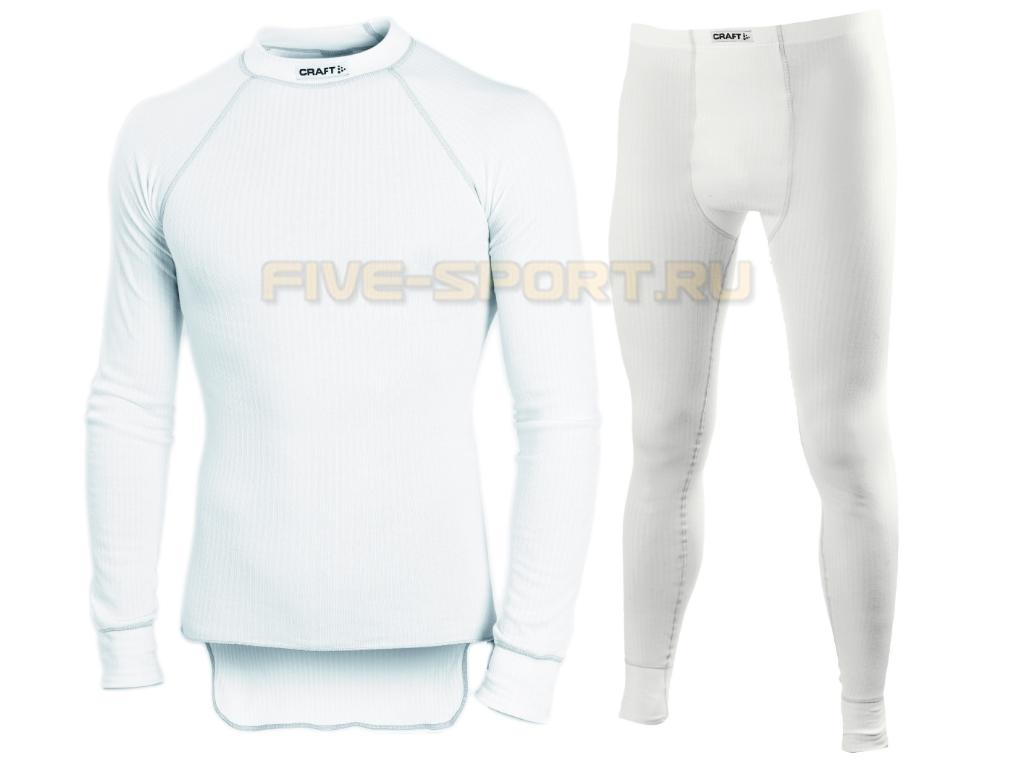 Комплект термобелья Craft Active мужской white