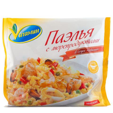 """Паэлья с морепродуктами """"Vитамин"""" в соусе севилья 400 г"""