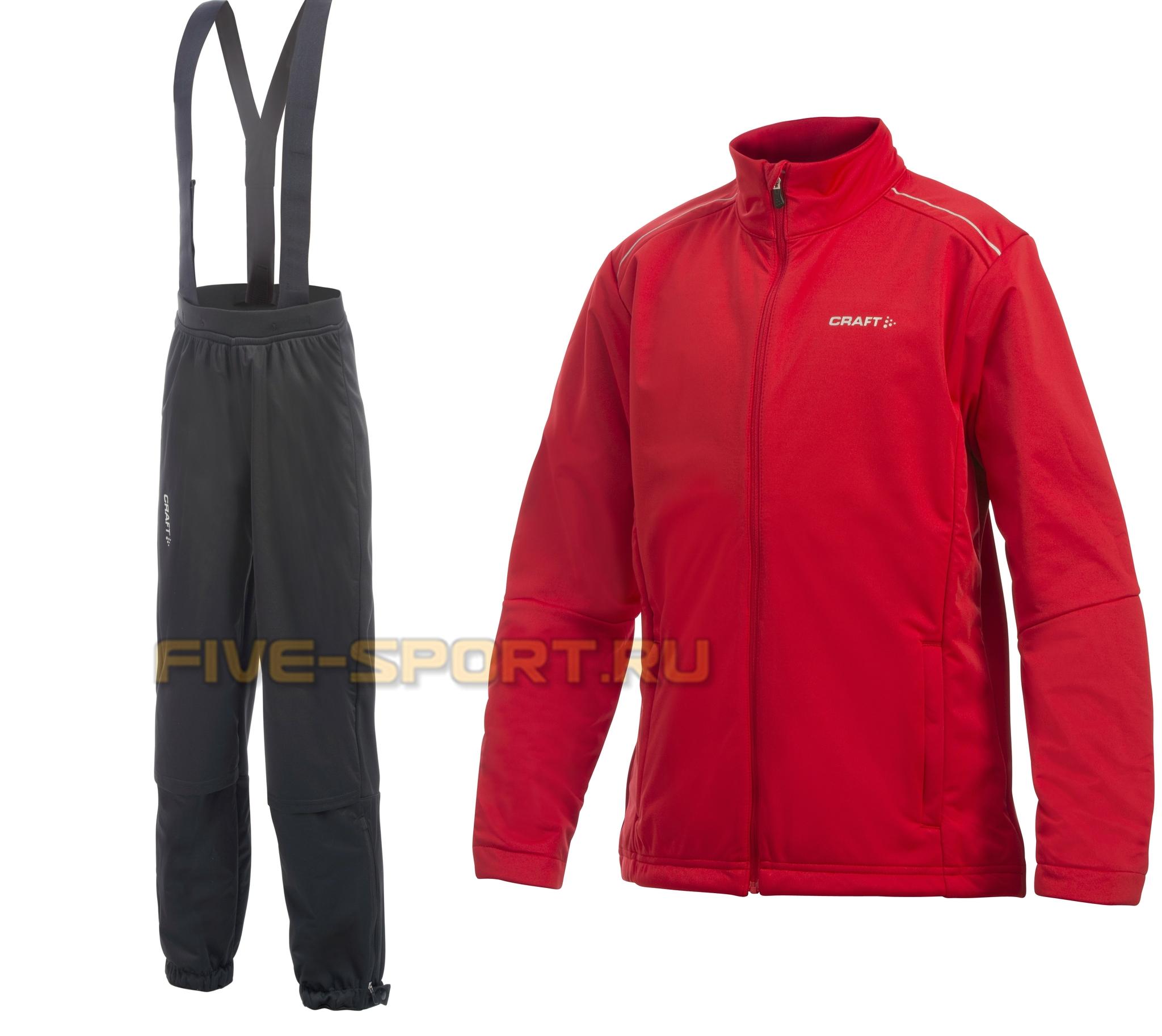 Детский лыжный костюм Craft warm красный