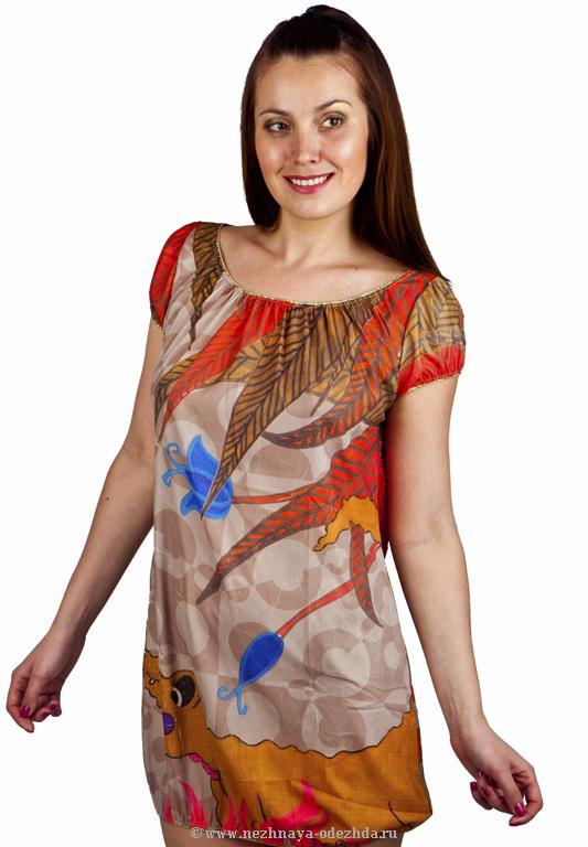 Женская пляжная туника AGOGOA (Летняя и пляжная одежда)