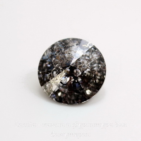 1122 Rivoli Ювелирные стразы Сваровски Crystal Black Patina (SS39) 8,16-8,41 мм ()