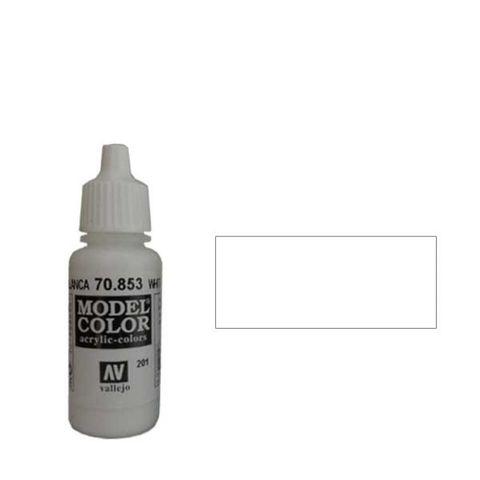 201. Краска Model Color Белила Патиновые 853 (White Glaze) прозрачный, 17мл