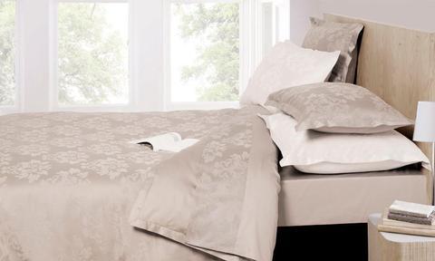 Постельное белье 1.5 спальное Bovi Барокко серо-бежевое