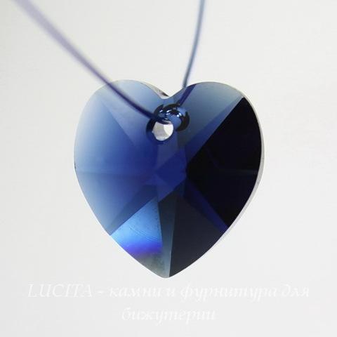 6202/6228 Подвеска Сваровски Сердечко Dark Indigo (14,4х14 мм)