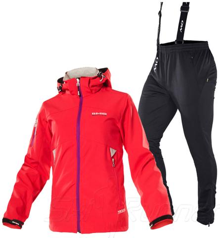 Лыжный утепленный костюм 8848 Altitude Saga Samuel Red женский