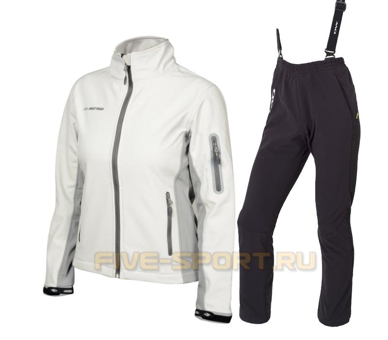 Женский лыжный утепленный костюм Mormaii White/Light Grey One Way Samuel