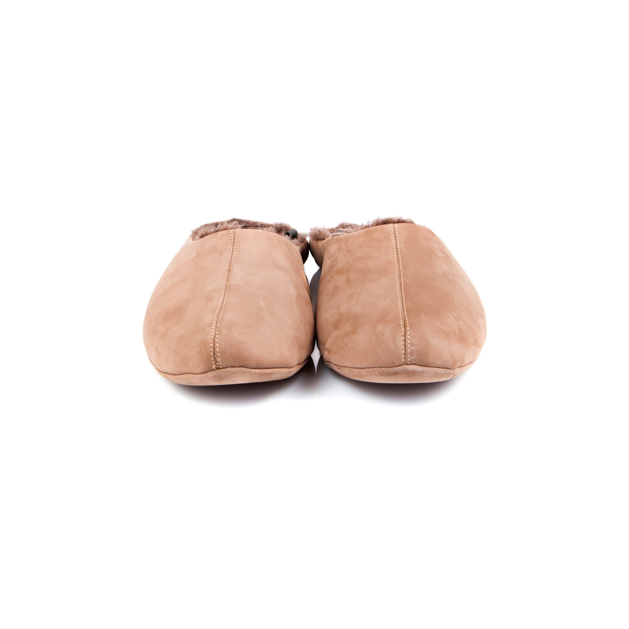 777137 туфли домашние мужские бежевые шерсть больших размеров марки Делфино