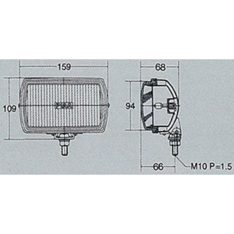 Дополнительные фары PIAA 50 XT Series LK053B (полупрожектор)