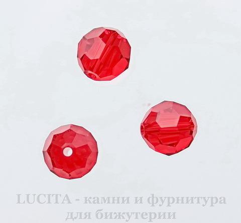 5000 Бусина - шарик с огранкой Сваровски Light Siam 8 мм