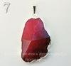 Подвеска Агат (тониров) с огранкой с покрытием фольги (цвет - серебро)(коричнево-розовый) (№7 (46х28 мм)(ЦАРАПИНА))