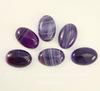 Кабошон овальный Агат фиолетовый (тониров), 30х20 мм