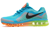 Кроссовки Мужские Nike Air Max 2014 Sky Blue Green Orange