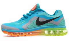 Кроссовки Мужские Nike Air Max 2014 Sky Blue Green Orange