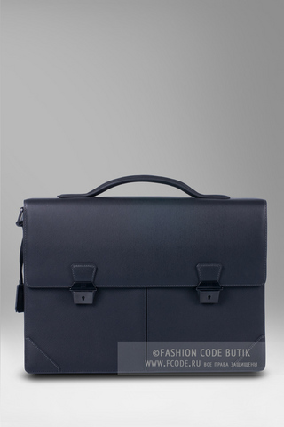Dunhill портфель с двумя отделениями Sidecar Gunmetal Double Doc Case