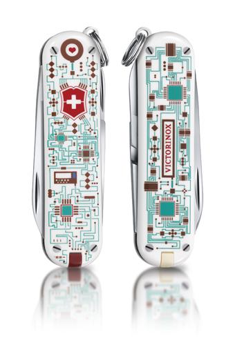 "Нож-брелок Victorinox Classic LE 2012, 58 мм, 7 функ, ""Electro Love""  (0.6223.L1201)"