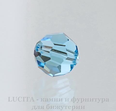 5000 Бусина - шарик с огранкой Сваровски Aquamarine 8 мм