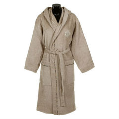 Элитный халат-кимоно махровый Basic бежевый от Roberto Cavalli