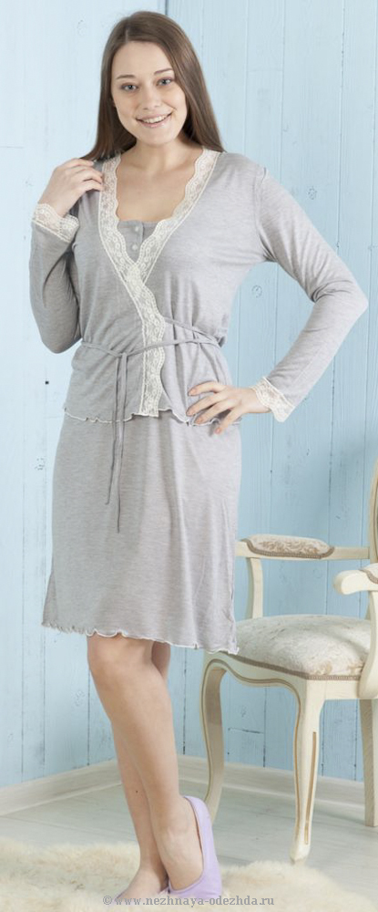 Комплект сорочка+накидка Ferlita