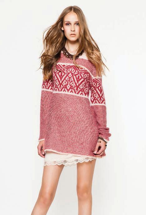 Теплое домашнее платье-свитер TWIN-SET (Домашние платья и ночные сорочки)
