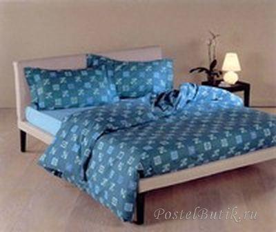 Постельное белье 2 спальное евро макси Caleffi Mosaico красное
