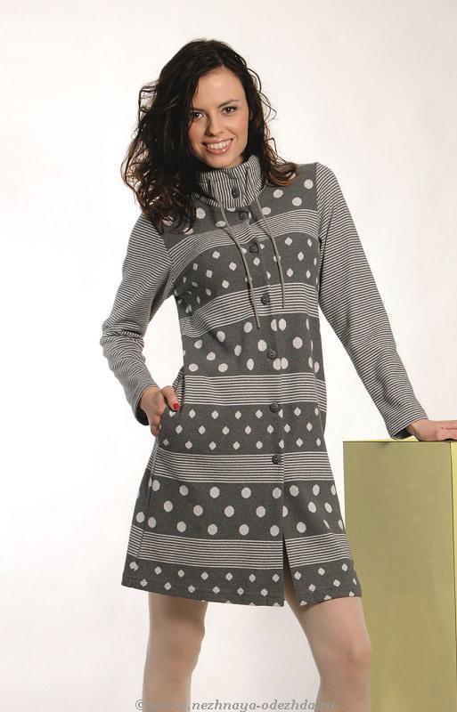 Теплый женский халат DolceVita (Женские халаты)