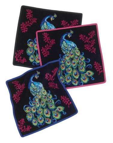 Элитная салфетка шенилловая Peacock 10 schwarz от Feiler