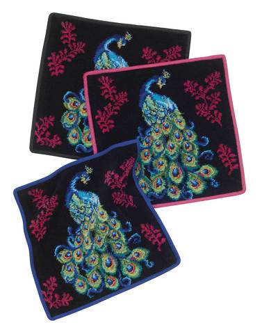 Элитная салфетка шенилловая Peacock 127 kirsch от Feiler
