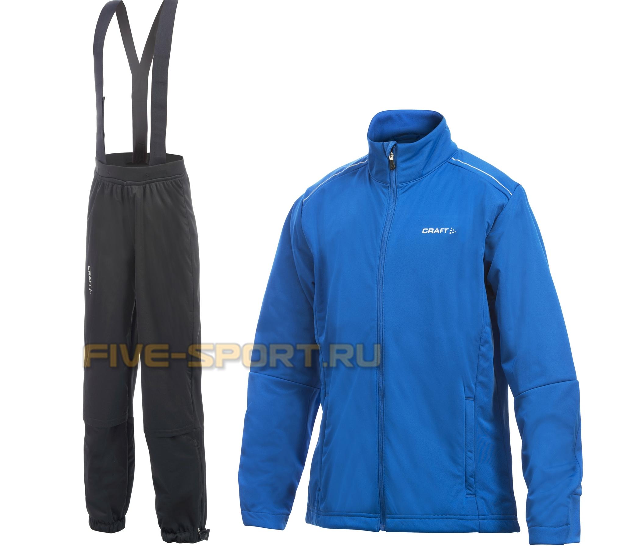 Детский лыжный костюм Craft warm синий