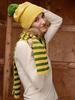 Комплект шапка и шарф с шерстью мериноса Norveg женский