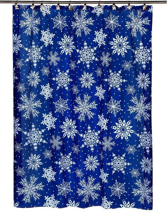 Шторки для ванной Шторка для ванной 178x183 Carnation Home Fashions Snow Flake elitnaya-shtorka-dlya-vannoy-snow-flake-ot-carnation-home-fashions-ssha-kitay.jpg