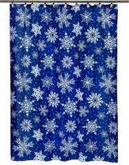 Шторка для ванной 178x183 Carnation Home Fashions Snow Flake