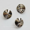 1122 Rivoli Ювелирные стразы Сваровски Crystal Gold Patina (SS47) 10,54-10,9 мм