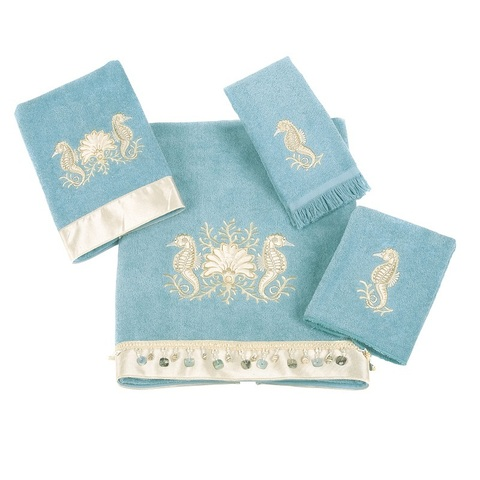 Полотенце 41х76 Avanti Seahorses голубое