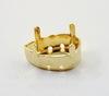 4320/S Сеттинг - основа для страза Капля 18х13 мм (цвет - золото) ()