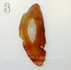 Подвеска Срез Агата (тониров)(цвет- коричневый) (№8 (88х36 мм)(ЦАРАПИНА ИЛИ СКОЛ))
