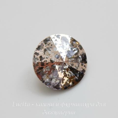 1122 Rivoli Ювелирные стразы Сваровски Crystal Rose Patina (12 мм) ()
