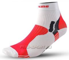 Носки Noname Multi бело-красные (006067)