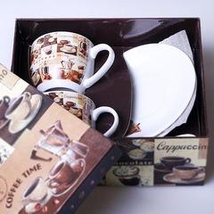 Кофейная пара (по 2: чашки , блюдца, ложки) 327896