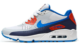Кроссовки мужские Nike Air Max 90 HyperFuse White Blue Red