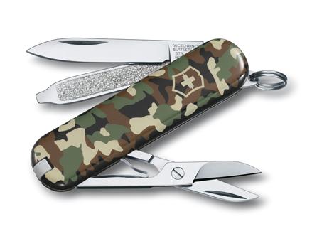 Нож-брелок Victorinox Classic, 58 мм, 7 функ, камуфляжный  (0.6223.94)