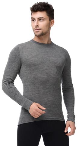 Термобелье Футболка Norveg Soft Shirt мужская с длинным рукавом серая