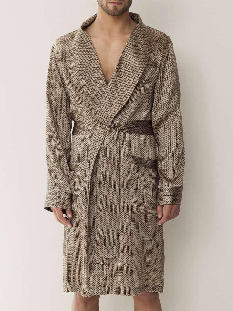 Мужской халат из шелка Zimmerli (Мужские халаты)