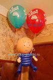 Композиция На День Рождения (мальчик на шарах) из воздушных шаров