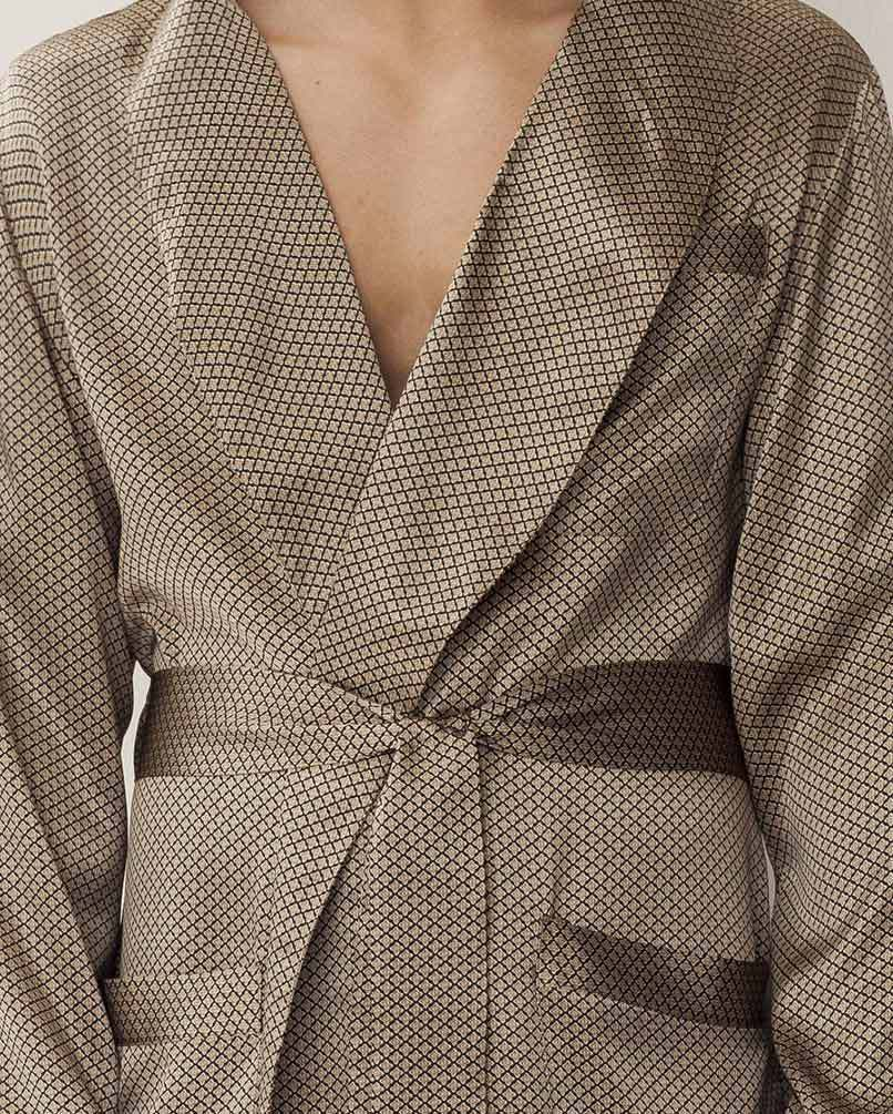 Мужской халат из шелка Zimmerli