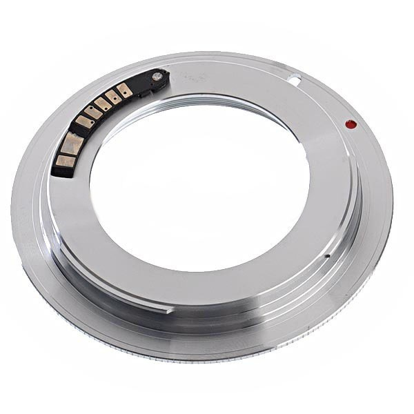 Переходник (Адаптер) М42 для Canon с подверждением автофокуса (Focus CHIP)